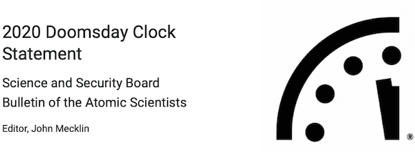 2020 Doomsday clock