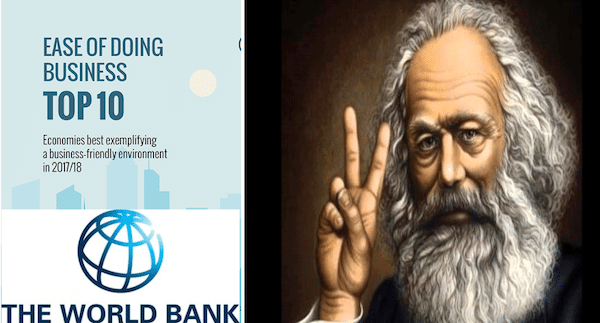 Using Marx as a Pejorative to Defend the Ease of Doing Business- Analysing The World Bank's attack on CGD`