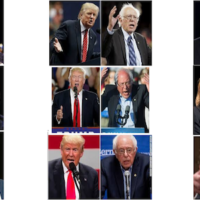 Visual comparisons of Bernie Sanders and Donald Trump from ABC News, Fortune, ABC News, CNN, Deadline, New York Times, The Wrap, CNN and Washington Post (left to right, top to bottom)