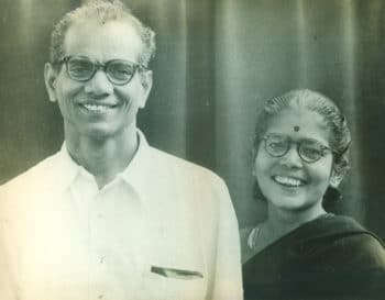 Comrade P. Sundarayya, the first General Secretary of the Communist Party of India (Marxist), or CPI(M), and comrade Leela, a member and administrator of the party offices. Nellore People's Polyclinic