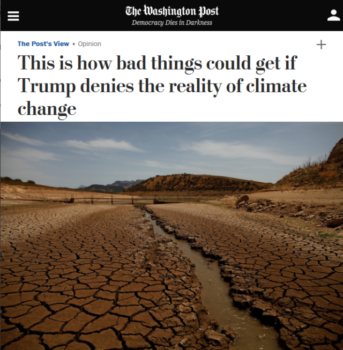 "A Washington Post editorial (8/8/17) taking Donald Trump to task for being in denial on climate change doesn't mention ""fossil fuel,"" ""coal,"" ""oil"" or ""natural gas."""