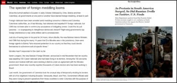 Both CNN and the NYT were quick to write off popular protests in Colombia