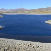 Laguna del Maule, a lake in the Andes mountain range, 300 kilometres south of Chile's capital Santiago.