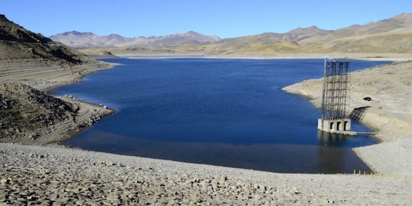 Laguna del Maule, a lake in the Andes mountain range, 300 kilometres south of Chile's capital Santiago.