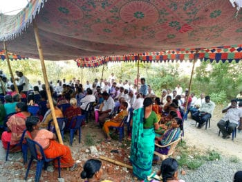 People waiting for their turn to receive medicines at CPI(M)-run camp in Wyra, Khammam District, Telangana. Tricontinental: Institute for Social Research
