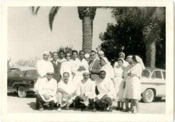 Frantz Fanon and his medical team at the Blida-Joinville Psychiatric Hospital in Algeria, where he worked from 1953 to 1956. Frantz Fanon Archives / IMEC