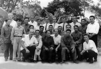 © PHOTO : AN EXHIBTIION OF PHOTOS TAKEN DURING THE VIETNAM WAR A group of Soviet military experts assigned to the 368th surface to air-missile regiment of the People's Army of Vietnam
