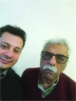Author Raza Naeem with Tariq Ali