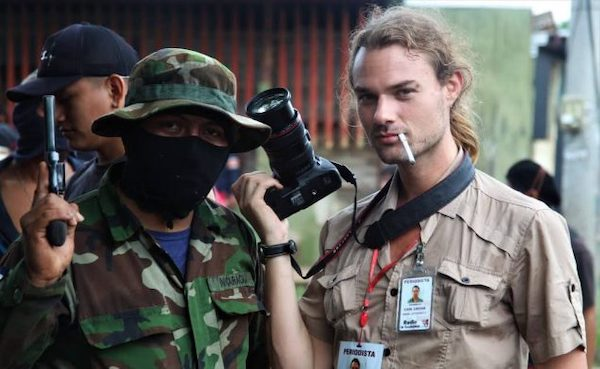 "Novice 'reporter', Carl David Goette-Luciak from the Grayzone ""How an US anthropologist tied to US regime-change proxies became the mainstream media's reporter on the ground in Nicaragua."""