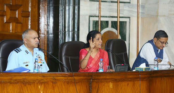 Wikimedia Commons File:S. Mitra, IAS in a press conference with Nirmala Sitharaman