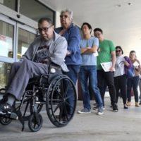 | Californians wait in line to vote on Super Tuesday March 3 2020 AP PhotoRingo HW Chiu | MR Online