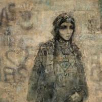 Mohammed Issiakhem, Femme et Mur (Woman and Wall), 1970.