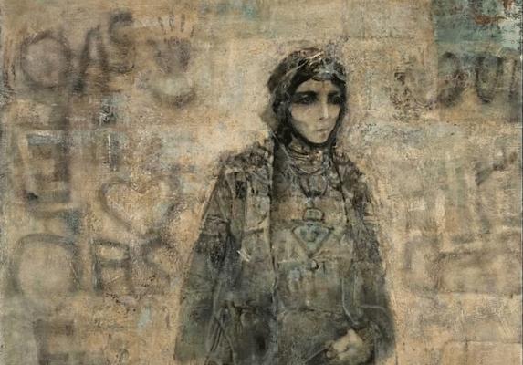 | Mohammed Issiakhem Femme et Mur Woman and Wall 1970 | MR Online
