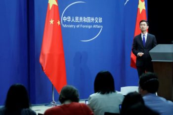 Chinese Foreign Ministry spokesman Geng Shuang. Photo: Reuters