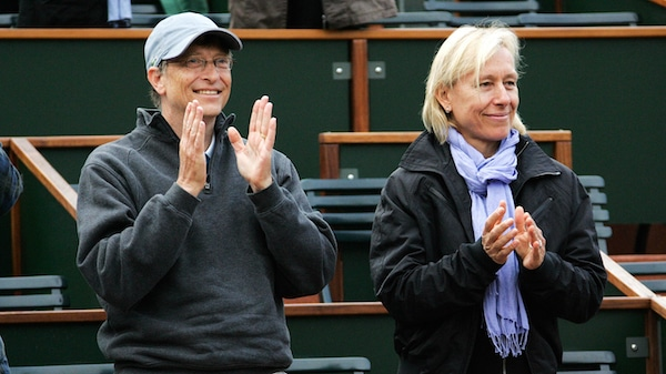 Bill Gates Bill Gates and Martina Navratilova at the French Open in Paris, France. Photo | NJO | STAR MAX | IPx