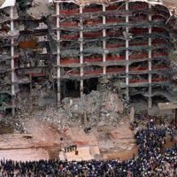 the Alfred P. Murrah Federal Building bombing. April 19, 1995. Image NBC News.