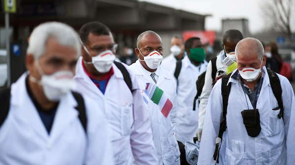 | An emergency contingent of Cuban doctors and nurses arrive at Italys Malpensa airport after traveling from Cuba to help Italy in its fight against the coronavirus Daniele Mascolo | Reuters | MR Online