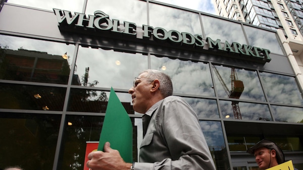 Delivery and warehousing workers of the Whole Foods Market chain went on strike across the United States on March 31.