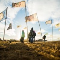 | Flags fly at the Oceti Sakowin Camp in 2016 near Cannonball North Dakota LUCAS ZHAO CC BYNC 20 | MR Online