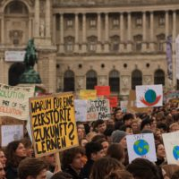 School strike for climate (FridaysForFuture) on Heldenplatz in Vienna (Austria) on March 15 2019
