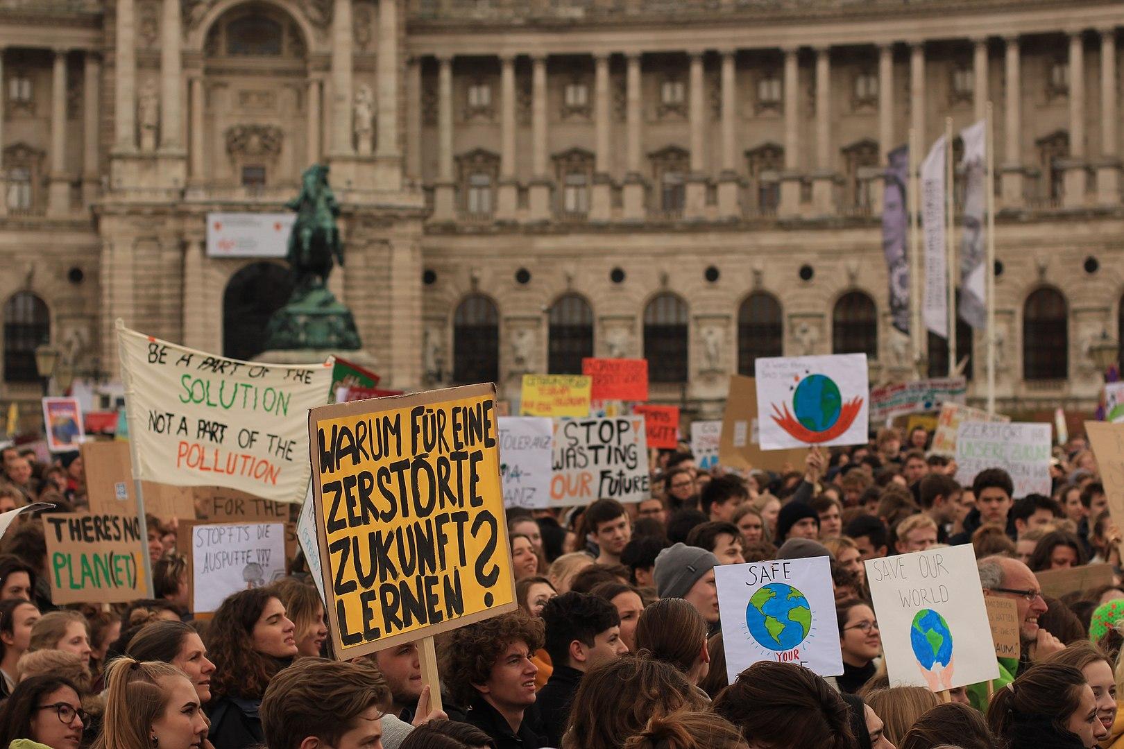   School strike for climate FridaysForFuture on Heldenplatz in Vienna Austria on March 15 2019   MR Online