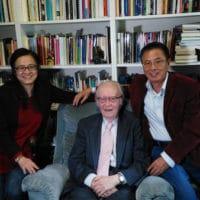 Meijun Fan, John Cobb, and Zhihe Wang in Claremont, California, March 5, 2017