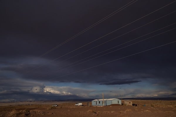 A mobile home on the Navajo reservation in Cameron, Arizona. Photo: Gina Ferazzi/Getty Images