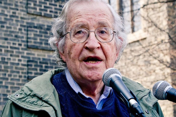 Noam Chomsky in 2011. Photo: Andrew Rusk/Wikimedia Commons, CC BY 2.0
