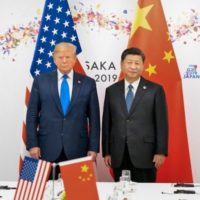 President Donald J. Trump and Xi Jinping, President of the People's Republic of China, June 29, 2019, at the G20 Japan Summit, Osaka, Japan. Photo credit: The White House / Flickr