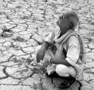 Man during drought