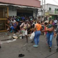 Incidents of looting have occurred in some small- and medium-sized towns, such as Upata, Bolivar state.