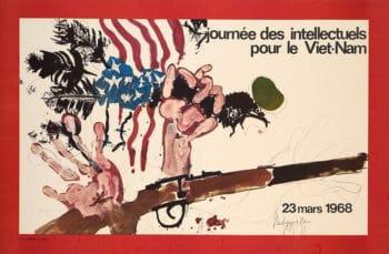 Paul Rebeyrolle (France), Journée des intellectuels pour le Viet-Nam, 1968.