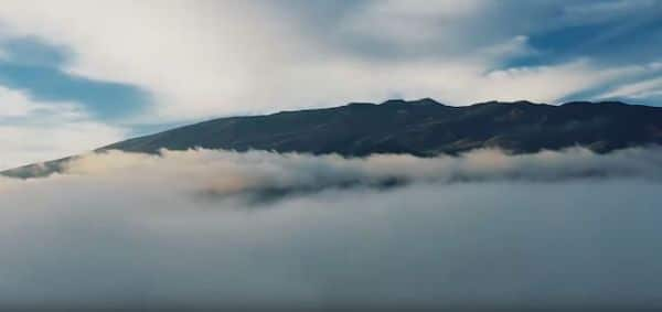 A view of Maunakea in Hawaii, captured in a video published by the community of Maunakea protesters called Pu'uhonua o Pu'uhuluhulu in December 2019. (Image: © Pu'uhonua o Pu'uhuluhulu/Youtube)