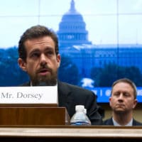 Twitter CEO Jack Dorsey testifies before the House Energy and Commerce Committee on Capitol Hill, Sept. 5, 2018, in Washington. Jose Luis Magana | AP