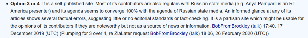 Wikipedia user BobFromBrockley / Ben Gidley smears The Grayzone by trying to link it to Russia