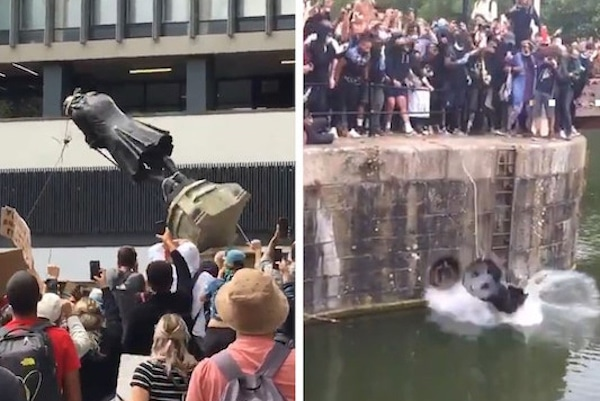| BLM Protesters in UK Tear Down Statue of Slave Trader Edward Colston | MR Online