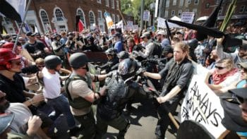 Clashes between white supremacists and Antifa in Charllottesville