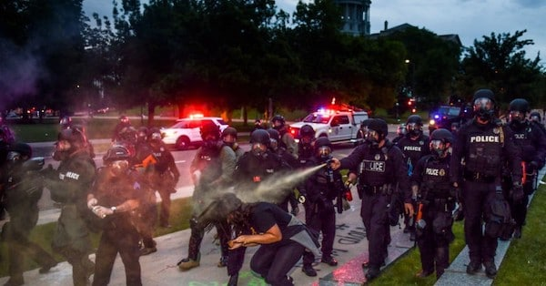   Violence employed by police and security agencies such as the FBI which have devolved into occupying forces to protect the exclusive interests of a tiny ruling criminal class exposes the fiction of the rule of law and the treason of the ruling elites Photo by Michael CiagloGetty Images   MR Online
