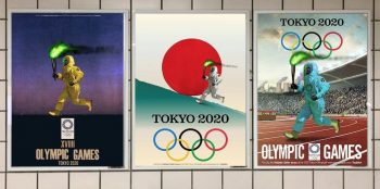 Sarcastic posters on the Tokyo Olympics in the streets in South Korea