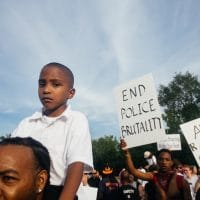 """end police brutality"" (Photo: Jamelle Bouie)"