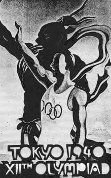 Poster for the 1940 Tokyo Olympics