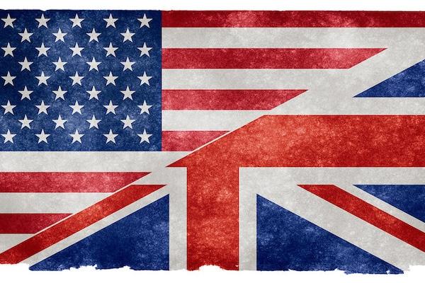 Flickr English Language Grunge Flag | Split US/UK flag on vintage p… | Flickr