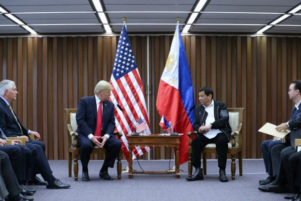President Rodrigo Roa Duterte and US President Donald Trump
