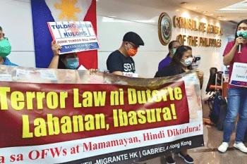 Against U.S.-Duterte's Terror Law: Hong Kong, China