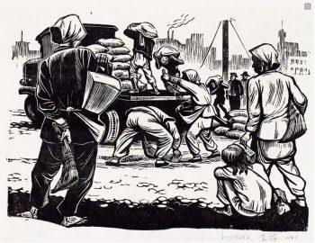 Li Hua (China), Verge of Starvation, 1946.