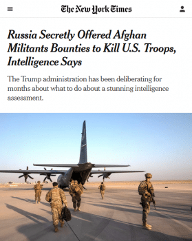 "The New York Times (6/26/20) front-paged what ""intelligence says""—while offering very little explanation of why they say they believe it, or why we should believe them."