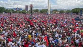 The 40th anniversary celebration of the Sandinista Revolution, in Managua's Plaza La Fe in July 2019 (Photo credit: Ben Norton / The Grayzone)