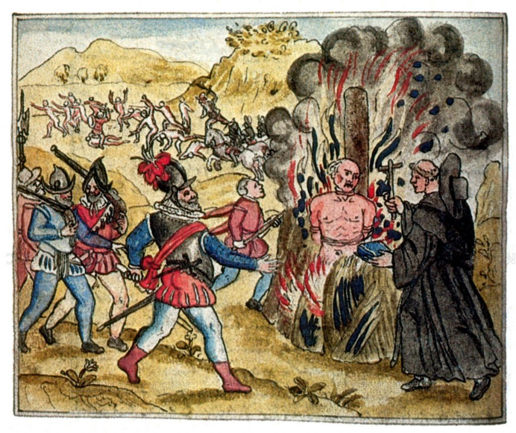 Spanish Persecution, Hatuey Burned at Stake, 1512