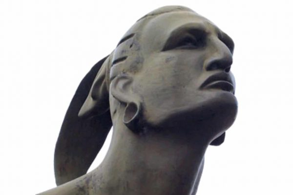 Bust from the statue of Taino Chief Hatuey in Baracoa, Cuba