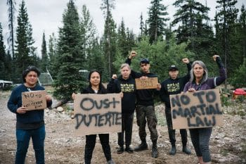 Against U.S.-Duterte's Terror Law: Unist'ot'en Camp, British Columbia